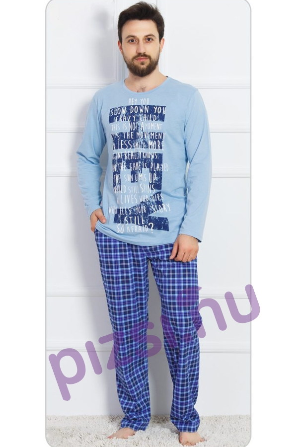 Extra méretű férfi pizsama - Extra méretű férfi hosszúnadrágos ... ddbf8ee109