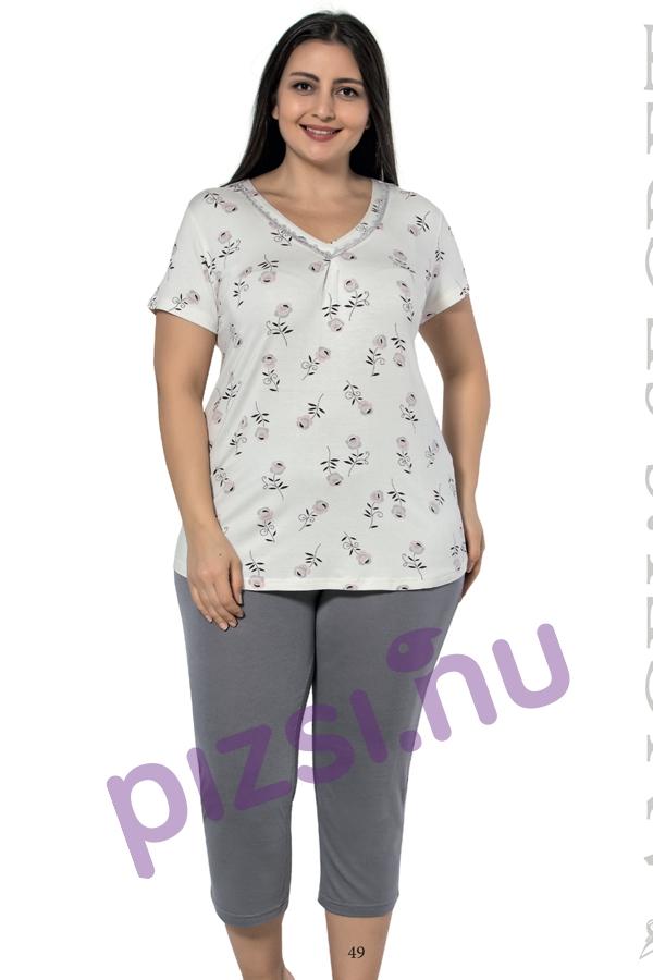 Extra méretű halásznadrágos pizsama - Extra méretű női ... f758bf6f6e