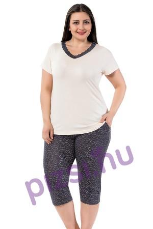 73ee436fb Extra méretű női halásznadrágos pizsama